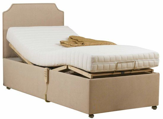 Electric Adjustable Rise Raise Recliner Divan Bed Set