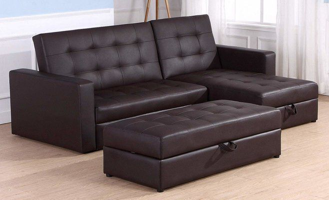Homcom Deluxe Faux Leather Corner Sofa Bed