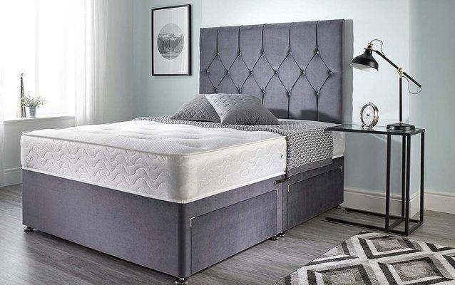 Bed Centre Ziggy Grey Plush Sprung Memory Foam Divan Bed