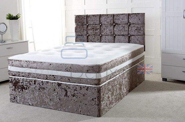 Crushed Velvet 5FT Kingsize Divan Bed