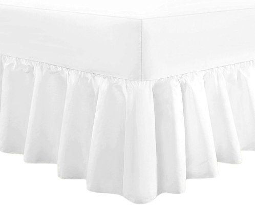 Linen Zone Extra Deep Fitted Frilled Valance Bed Sheet