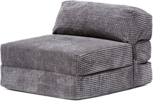 Loft Baron Charcoal Fold Out Single Z Bed Mattress