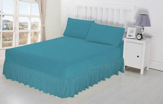 Luxury Percale Frilled Valance Fitted Sheets