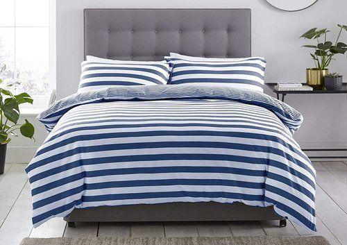 Silentnight Jersey Stripe Duvet Set