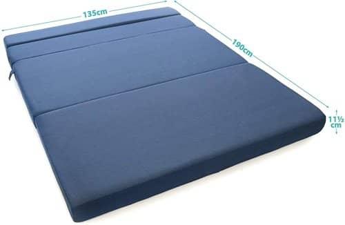 Milliard 11.5cm Tri-Fold Foam Folding Mattress