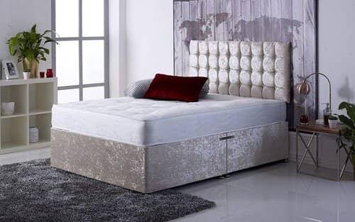 Comfort Night Sleep Ltd Crushed Velvet Single Divan Bed set