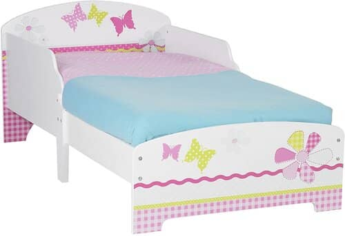 Butterflies and Flowers Patchwork Kids Toddler Bed